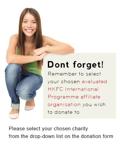 Dont forget your charity